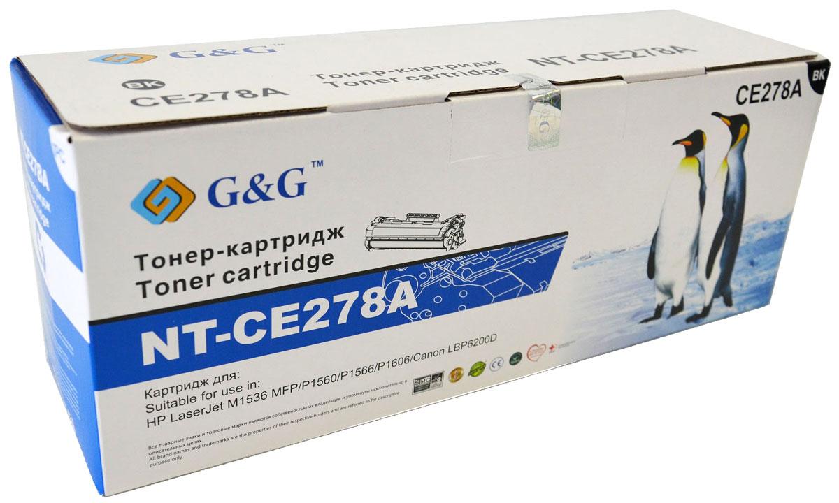 G&G NT-CE278A тонер-картридж для НР LaserJet P1560/1566/1606 M1536/Canon LBP-6200NT-CE278AКартридж G&G NT-CE278A для лазерных принтеров НР LaserJet P1560/1566/1606 M1536, Canon LBP-6200.Расходные материалы G&G для лазерной печати максимизируют характеристики принтера. Обеспечивают повышенную чёткость чёрного текста и плавность переходов оттенков серого цвета и полутонов, позволяют отображать мельчайшие детали изображения. Обеспечивают надежное качество печати.