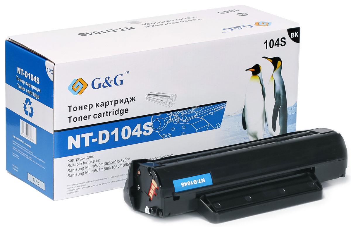 G&G NT-D104S тонер-картридж для Samsung ML-1660/1661/1665/SCX-3200/3205/3207/3210/3217NT-D104SТонер-картридж G&G NT-D104S для лазерных принтеров Samsung ML-1660/1661/1665/SCX-3200/3205/3207/3210/3217. Расходные материалы G&G для лазерной печати максимизируют характеристики принтера. Обеспечивают повышенную чёткость чёрного текста и плавность переходов оттенков серого цвета и полутонов, позволяют отображать мельчайшие детали изображения. Обеспечивают надежное качество печати.