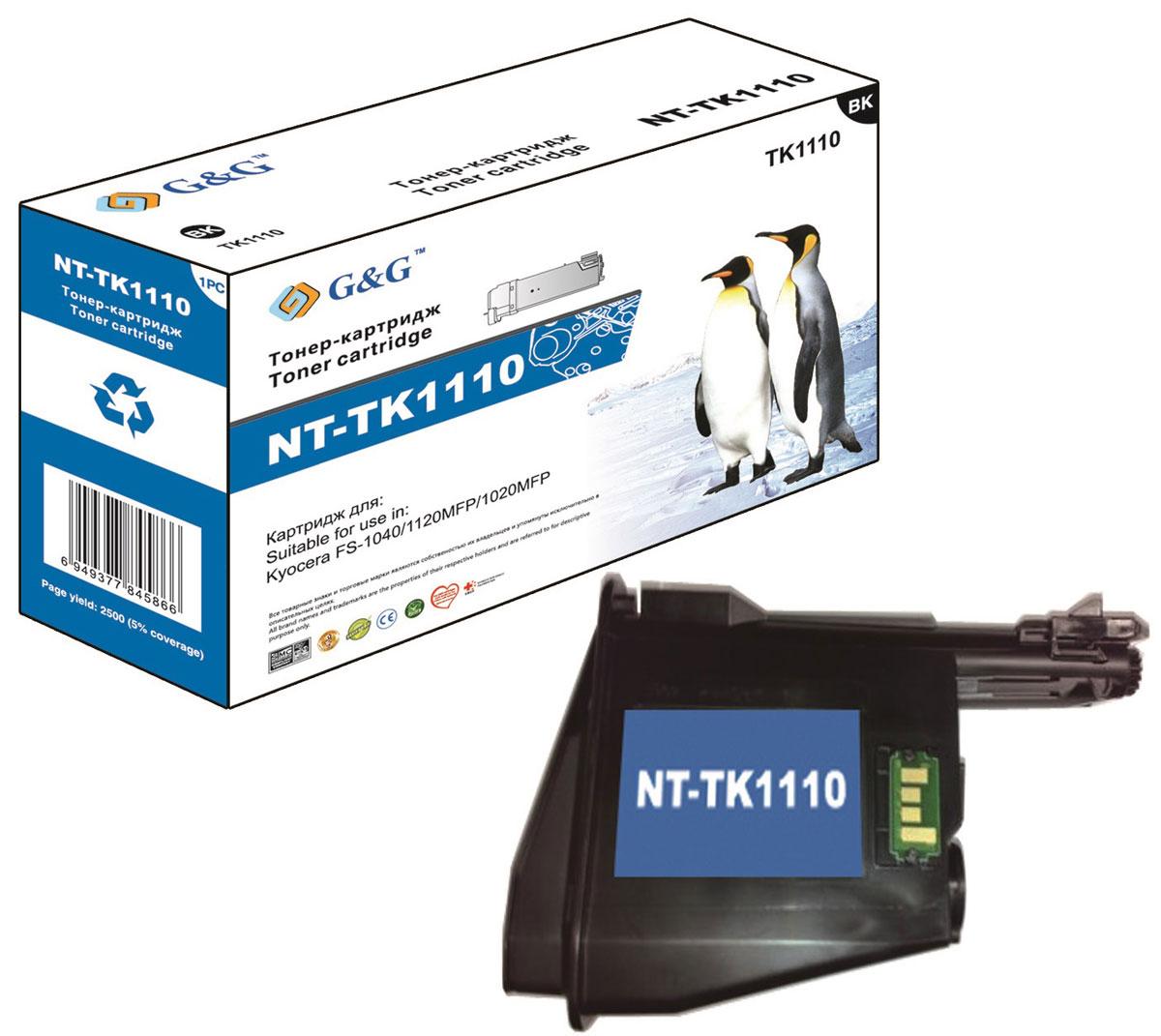 G&G NT-TK1110 тонер-картридж для Kyocera FS-1040/1020MFP/1120MFPNT-TK1110Тонер-картридж G&G NT-TK1110 для лазерных принтеров Kyocera FS-1040/1020MFP/1120MFP. Расходные материалы G&G для лазерной печати максимизируют характеристики принтера. Обеспечивают повышенную чёткость чёрного текста и плавность переходов оттенков серого цвета и полутонов, позволяют отображать мельчайшие детали изображения. Обеспечивают надежное качество печати.