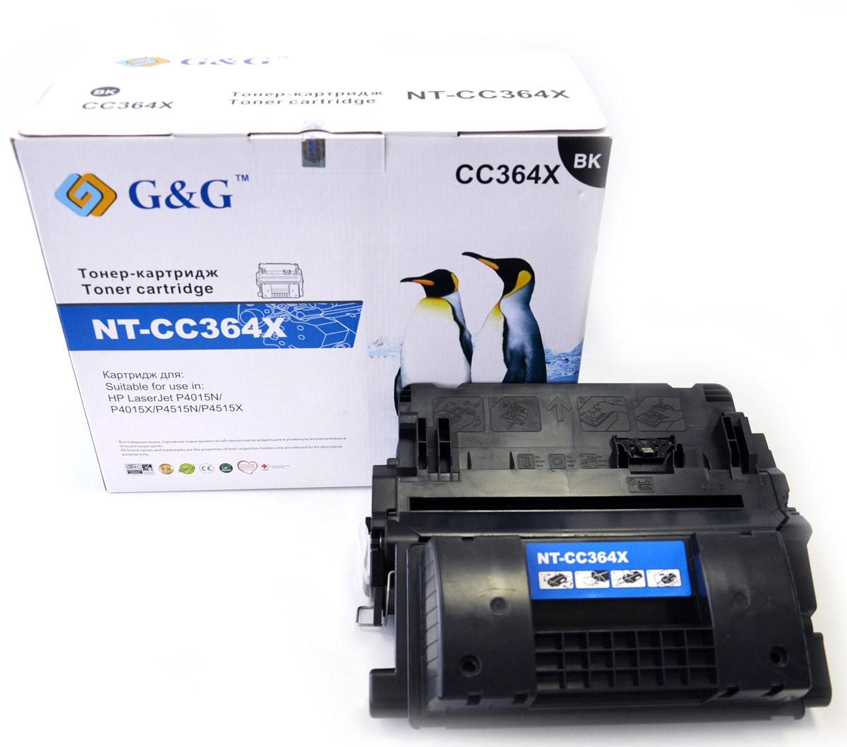 G&G NT-CC364X тонер-картридж для HP laserJet P4015N/P4015X/P4515N/P4515XNT-CC364XКартридж G&G NT-CC364X для лазерных принтеров HP LaserJet P4015N/P4015X/P4515N/P4515X. Расходные материалы G&G для лазерной печати максимизируют характеристики принтера. Обеспечивают повышенную чёткость чёрного текста и плавность переходов оттенков серого цвета и полутонов, позволяют отображать мельчайшие детали изображения. Обеспечивают надежное качество печати.