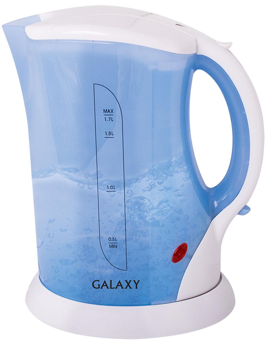 Galaxy GL 0104 чайник электрический4650067300184Электрический чайник Galaxy GL 0104 отвечает всем современным требованиям надежности и безопасности. Прозрачный корпус придаст необычный оттенок дизайну вашей кухни. Открытая спираль в качестве нагревательного элемента обуславливает низкую цену. Специальный пищевой пластик без посторонних запахов.