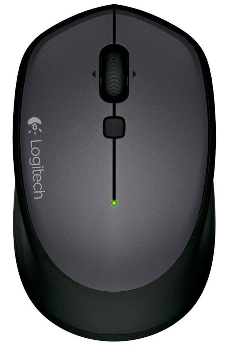 Logitech M335, Black беспроводная мышь910-004438Logitech M335 - удобная и мобильная беспроводная мышь. Изогнутая форма и текстурированные резиновые накладки обеспечивают комфорт даже при длительной работе. Легко помещается в сумку, поэтому ее можно брать с собой повсюду для комфортной работы вне дома.Можно подключать к различным устройствам с помощью приемника Unifying:Мышь совместима с ОС Windows, Mac или Chrome OS; подключение осуществляется с помощью крошечного беспроводного приемника Logitech Unifying.Интеллектуальное управление и простая навигация:Удобная кнопка навигации и колесико прокрутки — все, что нужно для управления, у вас под рукой.