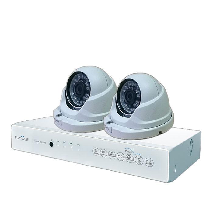 iVue D5004 AHC-D2 Для Дома и Офиса 4+2 комплект видеонаблюденияIVUE-D5004 AHC-D2Комплект видеонаблюдения iVue D5004 AHC-D2 Для Дома и Офиса 4+2 - это профессиональный набор систем охранного видеонаблюдения за вашим бизнесом, домом, дачей и т.д. Комплект включает в себя видеорегистратор AHD и 2 внутренние видеокамеры с разрешением сенсора 1 Мпикс, которые прекрасно подойдут к интерьеру любого помещения. AHD - самая современная технология кодирования и передачи видеоизображения по коаксиальному кабелю. Она позволяет передавать изображение с разрешением до 2 Мпикс на расстояние до 500 метров без потери качества изображения. Вы можете наблюдать за вашей собственностью из любой точки мира через интернет с помощью компьютера, планшета или смартфона. Простота подключения обеспечивается облачной технологией P2P. У вас так же есть возможность дополнить этот набор одной или двумя камерами по вашему выбору. Жесткий диск для этого набора приобретается отдельно и может иметь размер до 4 ТБ, что позволит вам поддерживать архив...