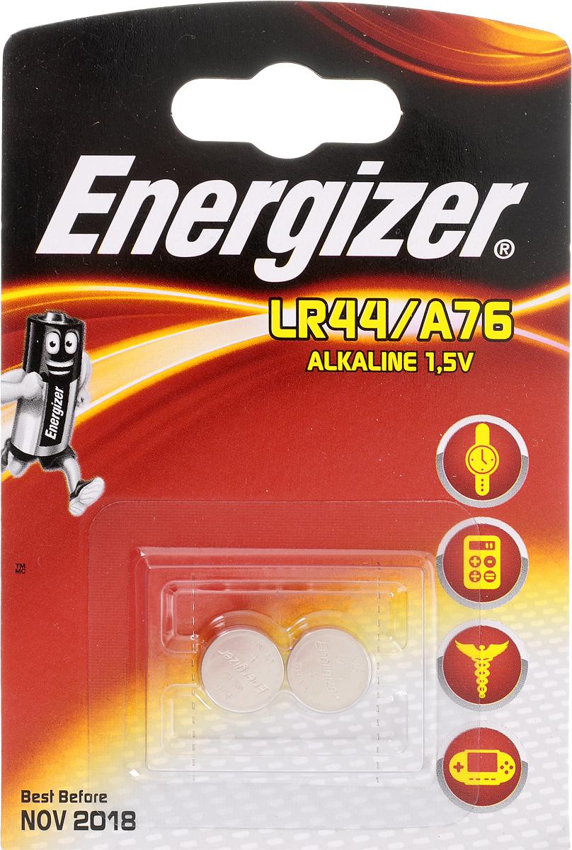 Батарейка Energizer Alkaline, тип LR44/A76, 1,5V, 2 шт639317/623055Батарейка Energizer Alkaline предназначена для электронных устройств. Устанавливается в электронные игры и игрушки, устройства личной гигиены, калькуляторы, электронные ежедневники и книги, системы бесключевого доступа, системы открывания гаражных ворот, цифровые термометры, тонометры и бытовые медицинские приборы.