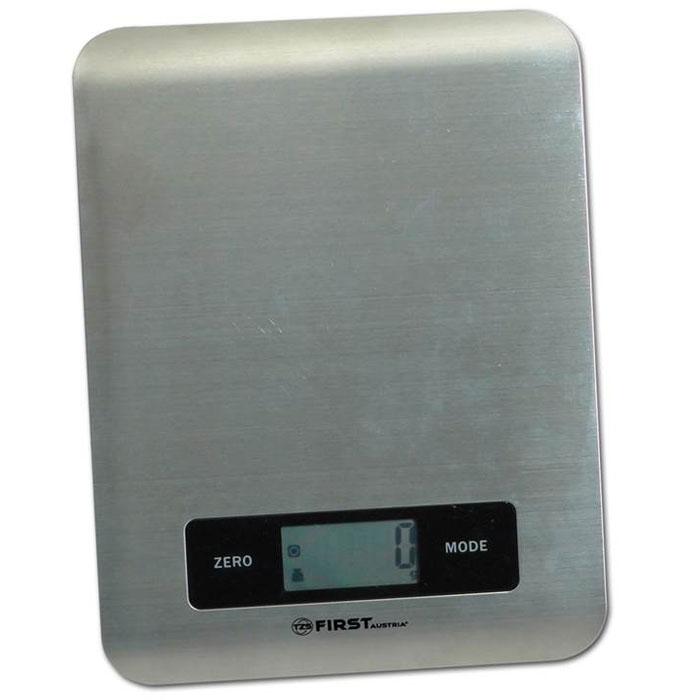 First FA-6403, Grey весы кухонныеFA-6403 GreyКухонные весы First FA-6403 - это отличный помощник на вашей кухне. Функция компенсации тары позволит взвешивать не учитывая массу тары, а высокая точность даст возможность точно следовать вашим любимым рецептам. С помощью данной модели также можно измерять объем жидкости.