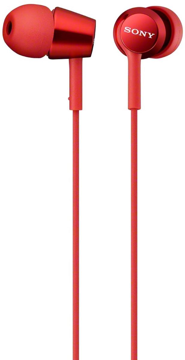 Sony MDR-EX150, Red наушники95489212Наушники-вкладыши Sony MDR-EX150 предлагаются в десяти ярких цветовых решениях, что позволит вам подобрать пару наушников под свой индивидуальный стиль. Динамики с неодимовыми магнитами и с диаметром диффузора 9 мм обеспечивают яркое энергичное звучание музыки, а диапазон воспроизводимых частот от 5 Гц до 24 кГц идеально подойдет для популярных стилей музыки.