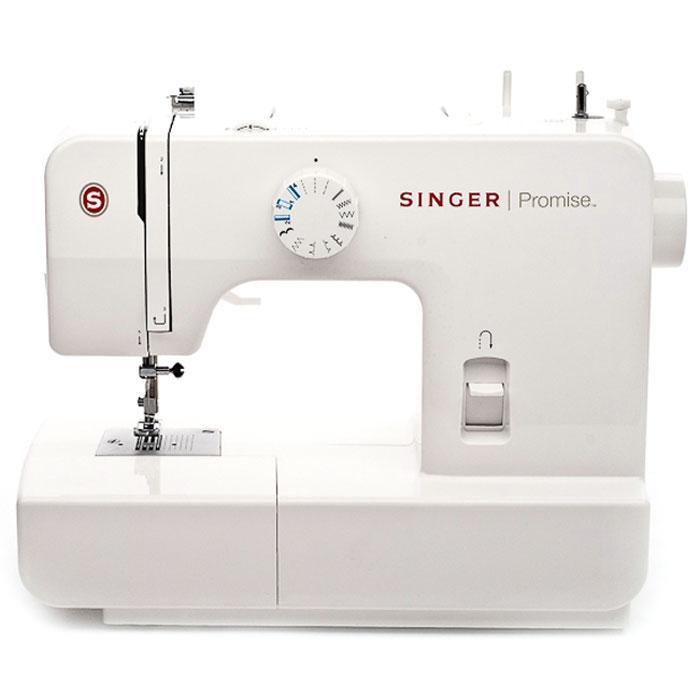 Singer Promise 1408 швейная машинаPromise1408Недорогая компактная швейная машина Singer Promise 1408 умеет делать все основные швейные операции и отлично подойдет для обучения шитью, ремонта одежды, шитья несложных вещей и других подобных работ. В данной модели есть восемь функций. Ширину и длину стежка, можно регулировать самостоятельно. Управление этими операциями производится переключателями, расположенными на корпусе машины. Также большим преимуществом является наличие оверлока, что позволит обметать края у законченного изделия. Помимо этого есть строчка тайного подшива, а также реверсная и эластичная строчки. Singer Promise 1408 относится к приборам электромеханического типа. Электромеханические машины снабжены электрический мотором, который приводит в движение маховое колесо. Скорость шитья зависит от силы нажатия на ножную педаль. Эта швейная машина также снабжена традиционным качающемся челноком.