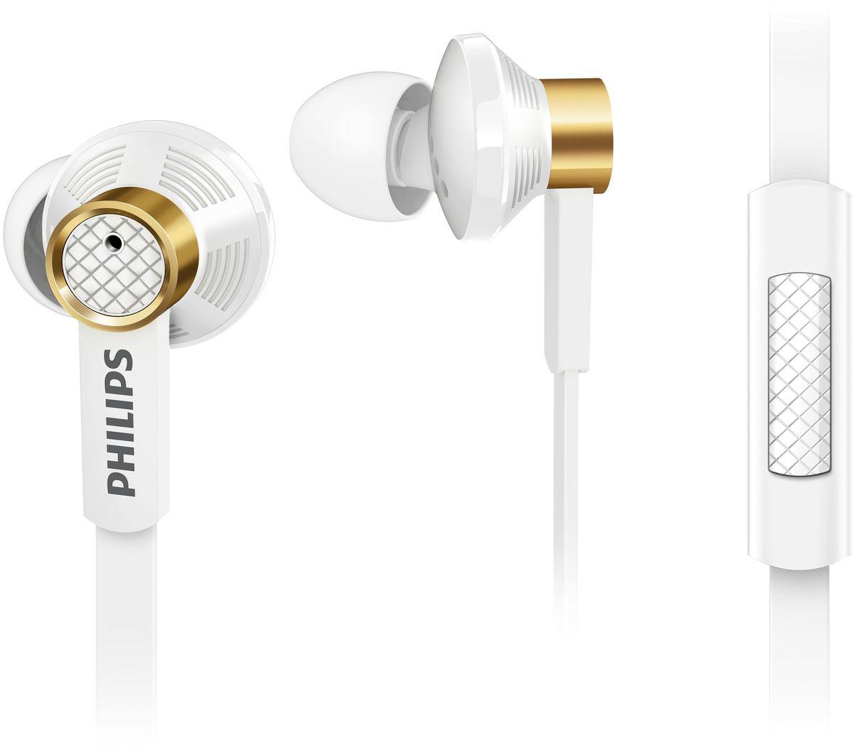 Philips TX2WT/00 наушники-вкладышиTX2WT/00Благодаря излучателям премиум-класса и овальным звуковым трубкам наушники Philips TX2 воспроизводят кристально чистый звук и насыщенные басы. Удобные мягкие насадки позволяют полностью погрузиться в прослушивание, а плоский кабель избавит вас от спутанных проводов. Встроенный микрофон для переключения между музыкой и вызовами: Благодаря встроенному микрофону можно легко переключаться между режимами разговора и прослушивания музыки и всегда оставаться на связи с теми, кто вам дорог. Три пары насадок на выбор для идеальной посадки: В комплект входят насадки 3 размеров (маленькие, средние и большие), чтобы вы могли выбрать подходящий вариант. Звукоизолирующие насадки не пропускают внешние шумы: Звукоизолирующие насадки блокируют внешние шумы, и вы можете наслаждаться музыкой без помех. Легкое медное кольцо сокращает вибрации и обеспечивает чистое и точное звучание. В результате обширных исследований,...
