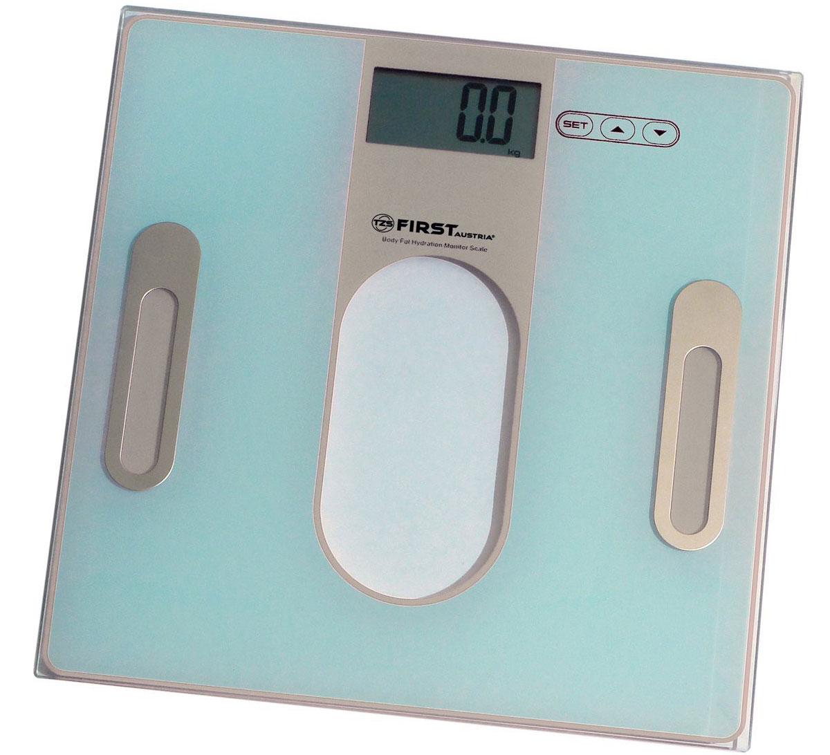 First 8006-2, Grey весы напольныеFA-8006-2 GreyСтильные напольные весы First 8006-2 помогут не только контролировать свой вес с точностью 100 грамм, но и станут еще одним атрибутом любого интерьера, так как имеют устойчивую и особо прочную стеклянную платформу. Корпус весов сверхтонкий, на нем расположен удобный жидкокристаллический дисплей с диагональю 1,4. Весы имеют функцию памяти на 12 пользователей.