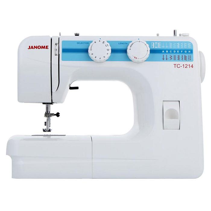Janome TC 1214 швейная машинаTC1214Janome TC 1214 - швейная машина для шитья и ремонта одежды. Она оборудована надежным вертикальным качающимся челноком, применяемым в бытовых швейных машинах уже многие десятилетия. Модель позволяет выметывать прямые бельевые петли за 4 шага без поворота ткани - после выполнения каждой стороны петли нужно переключить программу на следующую сторону. Швейная машина отлично подойдет для шитья с применением различных тканей: ситца, крепа, плащевой, бязи, тика, шелка, шифона, фланели, хлопчатобумажных тканей, а также полиэстера. Удобная и практичная техника выполняет полуавтоматическую петлю, способна шить: потайную строчку, прямую, оверлочную, выполнять подшивку низа, прямую строчку, имеющую смещение влево, зигзаг. Кроме того, в машинке предусмотрена возможность шитья двойной иглой. Среди строчек, которые доступны в данной модели, имеется зигзаг с разной плотностью стежков, эластичная, оверлочная, потайная подгибка, стрейчевая для трикотажа, а также...
