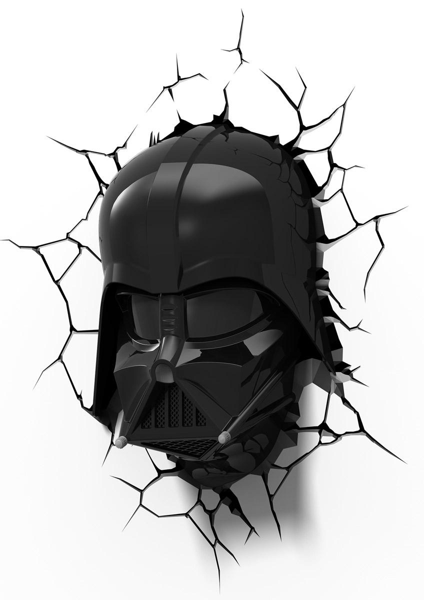 Star Wars Пробивной 3D светильник Маска Дарт Вейдер50026Пробивной 3D светильник Star Wars Маска Дарт Вейдер обязательно понравится вашему ребенку. Особенности: Безопасный: без проводов, работает от батареек (3хАА, не входят в комплект); Не нагревается: всегда можно дотронуться до изделия; Реалистичный: 3D наклейка-имитация трещины в комплекте; Фантастический: выглядит превосходно в любое время суток; Удобный: простая установка (автоматическое выключение через полчаса непрерывной работы). Товар предназначен для детей старше 3 лет. ВНИМАНИЕ! Содержит мелкие детали, использовать под непосредственным наблюдением взрослых.