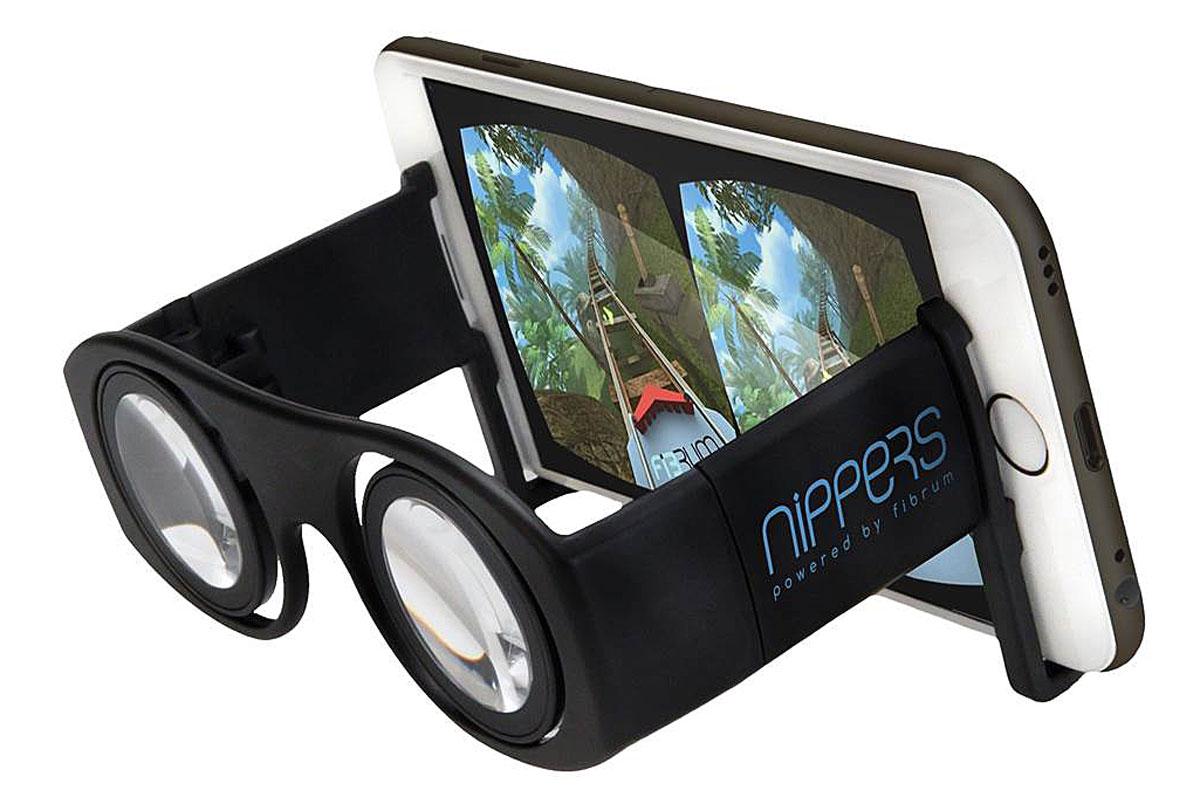Fibrum Nippers очки виртуальной реальностиC1-GlassFibrum Nippers - пенсне виртуальной реальности, которое позволяет получить первый опыт погружения в виртуальную реальность и ознакомиться с VR технологией. Линзы 30 мм Настройка межзрачкового расстояния: от 55 до 70 мм Материал: пластик