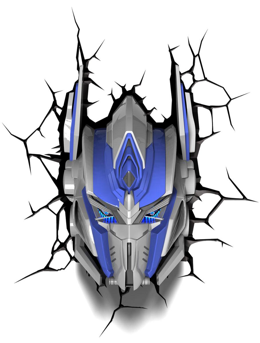 Transformers Пробивной 3D светильник Оптимус Прайм40003Пробивной 3D светильник Transformers Оптимус Прайм обязательно понравится вашему ребенку.Особенности: Безопасный: без проводов, работает от батареек (3хАА, не входят в комплект);Не нагревается: всегда можно дотронуться до изделия;Реалистичный: 3D наклейка-имитация трещины в комплекте;Фантастический: выглядит превосходно в любое время суток;Удобный: простая установка (автоматическое выключение через полчаса непрерывной работы).Товар предназначен для детей старше 3 лет. ВНИМАНИЕ! Содержит мелкие детали, использовать под непосредственным наблюдением взрослых.