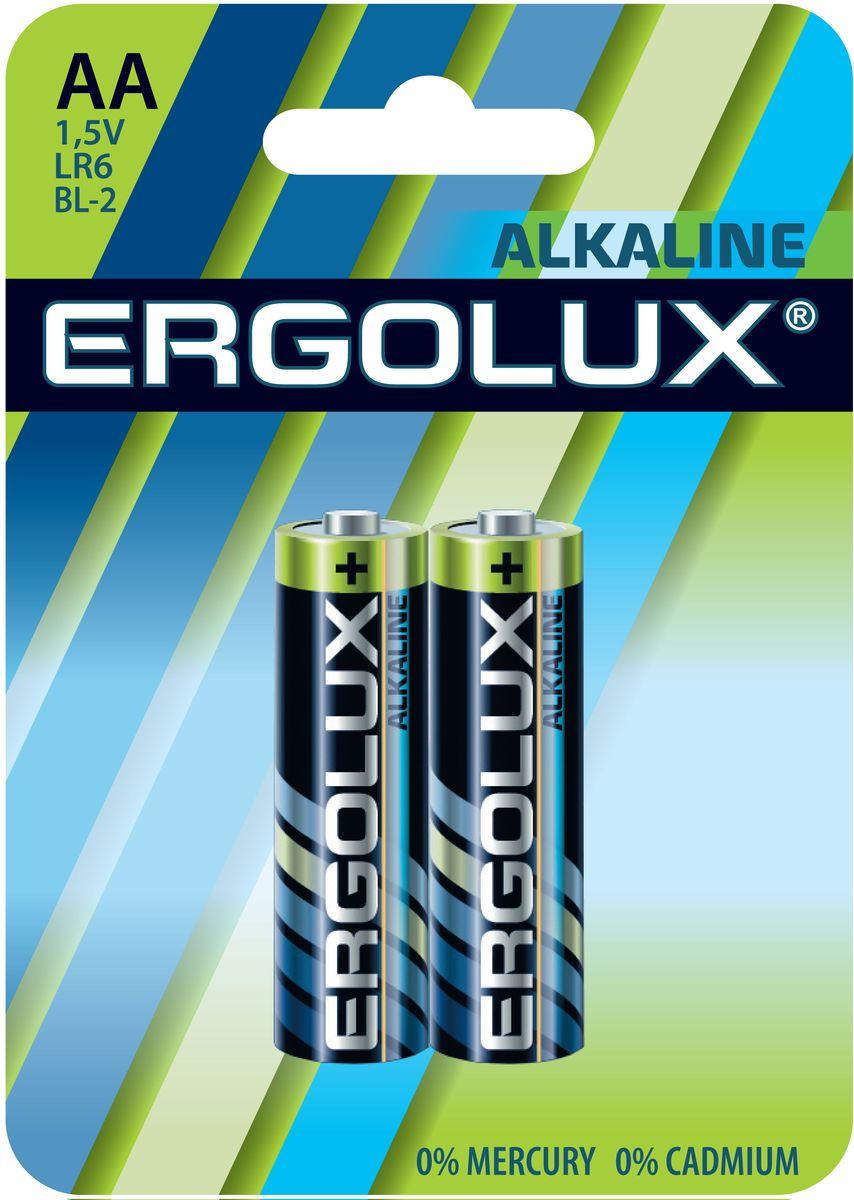 Батарейка алкалиновая Ergolux, тип LR6, 2 шт, 1.5 В11747