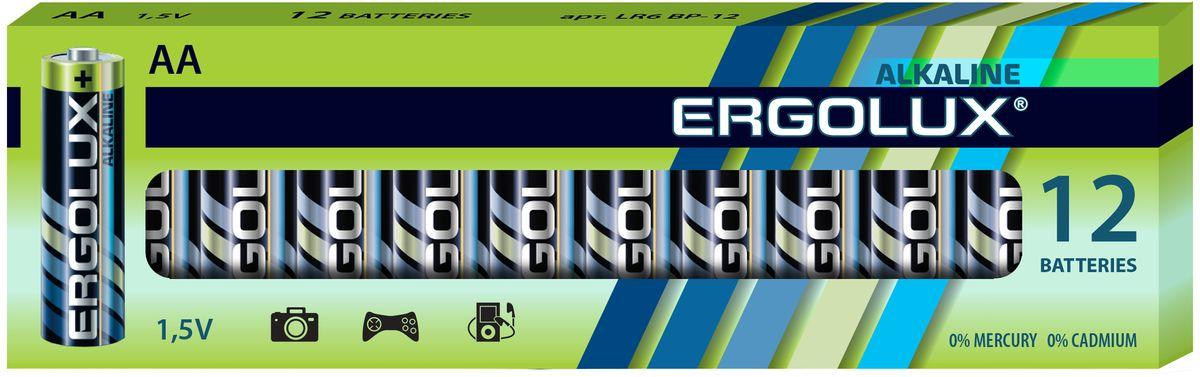 Батарейка алкалиновая Ergolux, тип LR6 12 шт,1.5 В11749