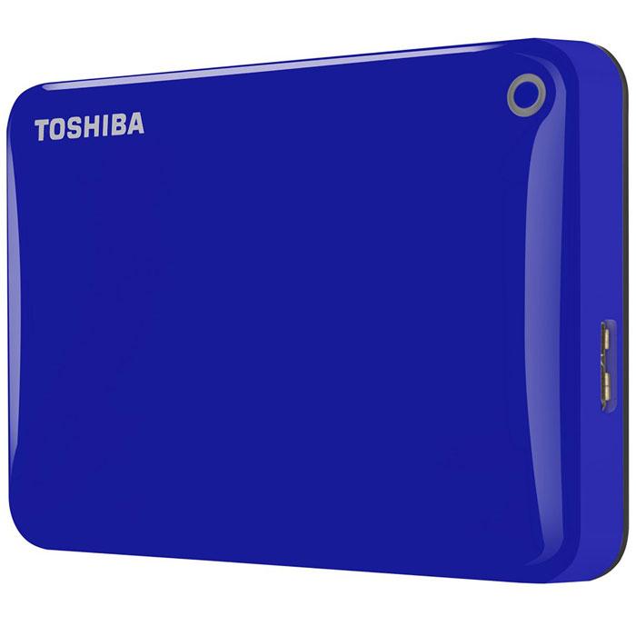 Toshiba Canvio Connect II 1TB, Blue внешний жесткий диск (HDTC810EL3AA)HDTC810EL3AAToshiba Canvio Connect II дает вам возможность быстро передавать файлы с интерфейсом USB 3.0 и хранить до 1 ТБ данных на внешнем жестком диске. Устройство полностью готово для работы с Microsoft Windows и не требует установки программного обеспечения, так что ничего не может быть удобнее для хранения всех ваших любимых файлов. В офисе или в дороге его классический дизайн будет всегда уместен. Более того, Toshiba Canvio Connect II позволяет подключаться также и к оборудованию с совместимостью USB 2.0. Этот внешний накопитель обеспечивает доступ к вашим файлам практически из любого места и с любого устройства. Toshiba Canvio Connect II может легко превратить ваш компьютер в облачный сервер благодаря предустановленному ПО для удаленного доступа (накопитель должен быть подключен к компьютеру и Wi-Fi). Помимо удаленного доступа это устройство предоставляет своему владельцу 10 ГБ дополнительного места в облачном сервисе. Программное обеспечение NTI Backup Now EZ...