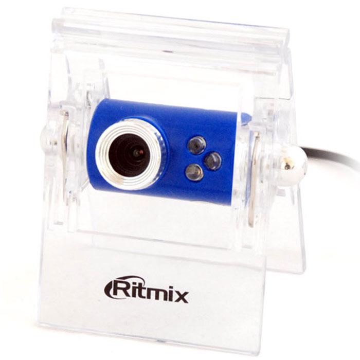 Ritmix RVC-005M Web-камера15116079Простая бюджетная USB веб-камера Ritmix RVC-005M с разрешением 300К, оснащённая микрофоном и прищепкой для крепления к монитору. Особенность – светодиодная подсветка, заметно улучшающая качество изображения при общении ночью.Кадров в секунду: 30Угол обзора объектива (по диагонали): 54°Фокусировка: ручная - от 5 см до бесконечностиФорматы видео: AVIГрафические форматы: JPEG