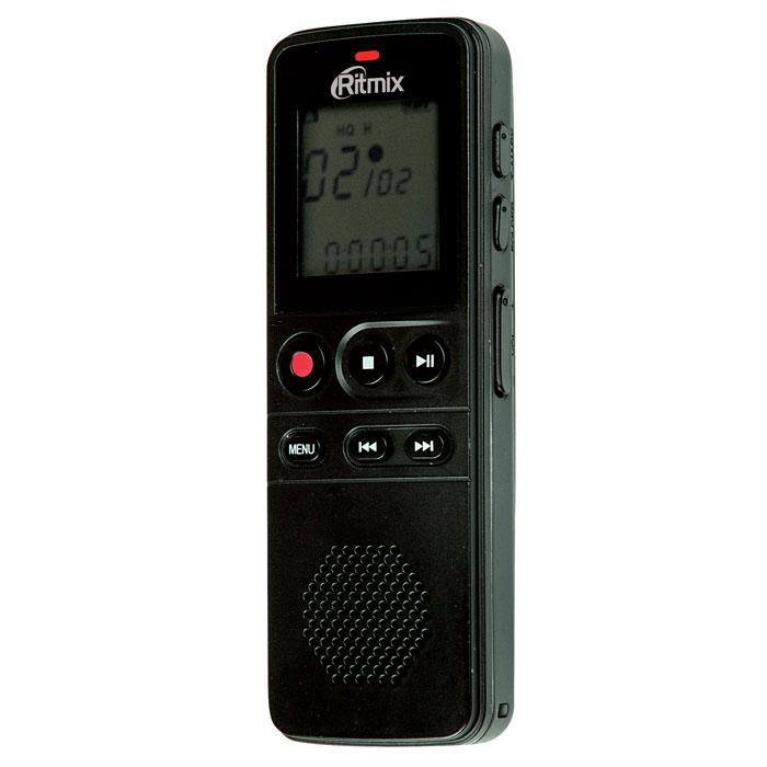 Ritmix RR-810 8GB, Black диктофон15118209Ritmix RR-810 - это цифровой диктофон в компактном корпусе с профессиональным качеством записи. Устройство имеет несколько режимов записи, оснащено качественным динамиком, а также поддерживает функцию съемного диска (при подключении к ПК для обмена данными установка дополнительного программного обеспечения не требуется). Рекордер имеет продвинутый набор функций: режим подавления внешних шумов, функция слухового аппарата, голосовая активация записи, световая и звуковая индикация работы, защита записей от случайного удаления, настройки скорости воспроизведения и многие другие. Несомненный плюс диктофона - питание от батарей. Теперь вы не привязаны к ПК или сети: просто замените батарейки и продолжайте запись дальше. RR-810 отличается богатой комплектацией: в комплект входит чехол для переноски, ремешок для ношения на руке и внешний петличный микрофон для удобства записи. Функция слухового аппарата Встроенный динамик ...