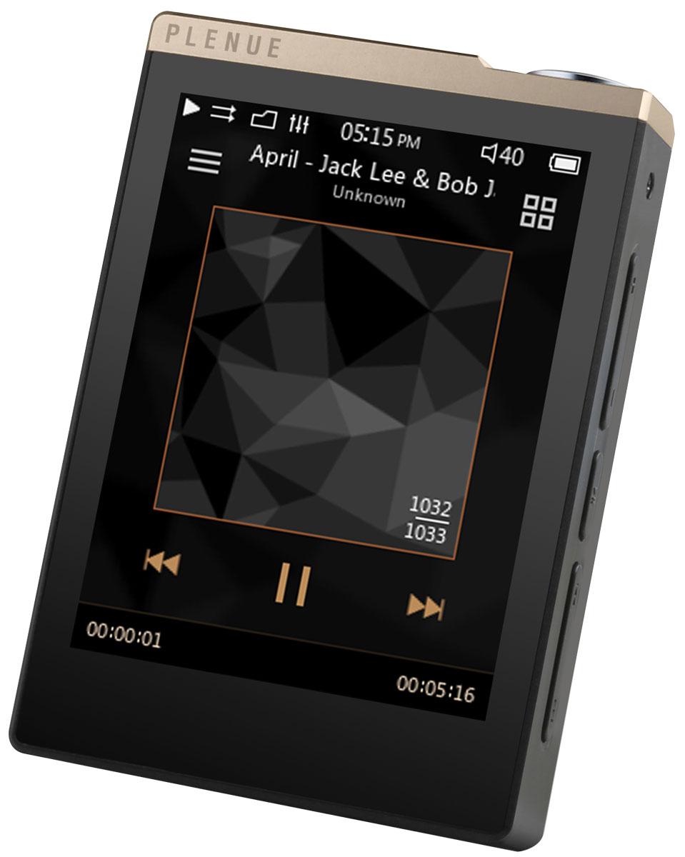 """Cowon Plenue D, Gold Black Hi-Res плеер15118385Cowon Plenue D воспроизводит музыку с высоким разрешением, при этом имеет компактные размеры и обеспечивает до 100 часов непрерывного воспроизведения в формате mp3 и около 50 часов для FLAC. За безупречное воспроизведение HD-звука и стабильность работы отвечает высококачественный встроенный стерео ЦАП (24 бит / 192 кГц). Устройство поддерживает множество аудиоформатов, включая lossless и несжатый FLAC 24 бит / 192 кГц. Плеер оснащён широким сенсорным 2,8"""" ЖК-экраном и имеет интуитивно понятный интерфейс с двумя вариантами скринсейверов на выбор. Кнопка Play и кнопки регулировки громкости расположены на боковой панели устройства, что позволяет управлять плеером одной рукой. Также плеер имеет слот для карт памяти SD. Чтобы наслаждать качественным студийным звуком в любом месте и в любое время, плеер должен был быть максимально компактным, но при этом обеспечивать необходимую производительность и длительное время работы. Cowon Plenue D..."""