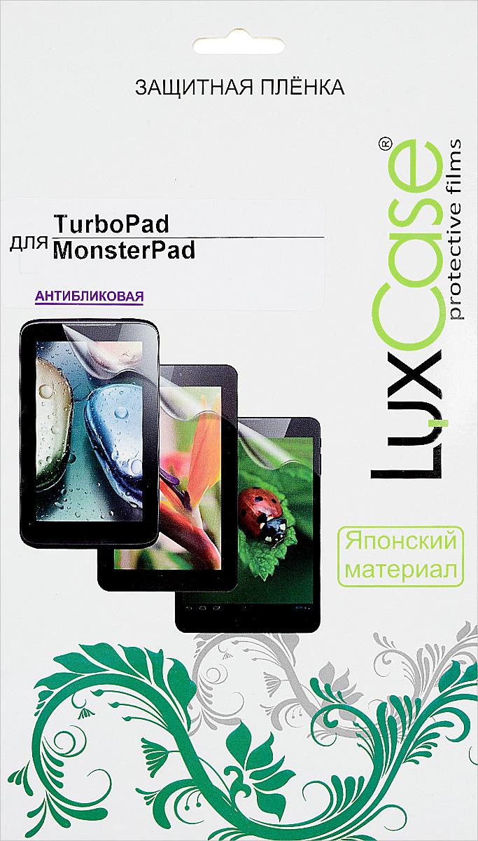 LuxCase защитная пленка для TurboPad MonsterPad, антибликовая55421Защитная пленка LuxCase для TurboPad MonsterPad сохраняет экран планшета гладким и предотвращает появление на нем царапин и потертостей. Структура пленки позволяет ей плотно удерживаться без помощи клеевых составов и выравнивать поверхность при небольших механических воздействиях. Пленка практически незаметна на экране гаджета и сохраняет все характеристики цветопередачи и чувствительности сенсора.