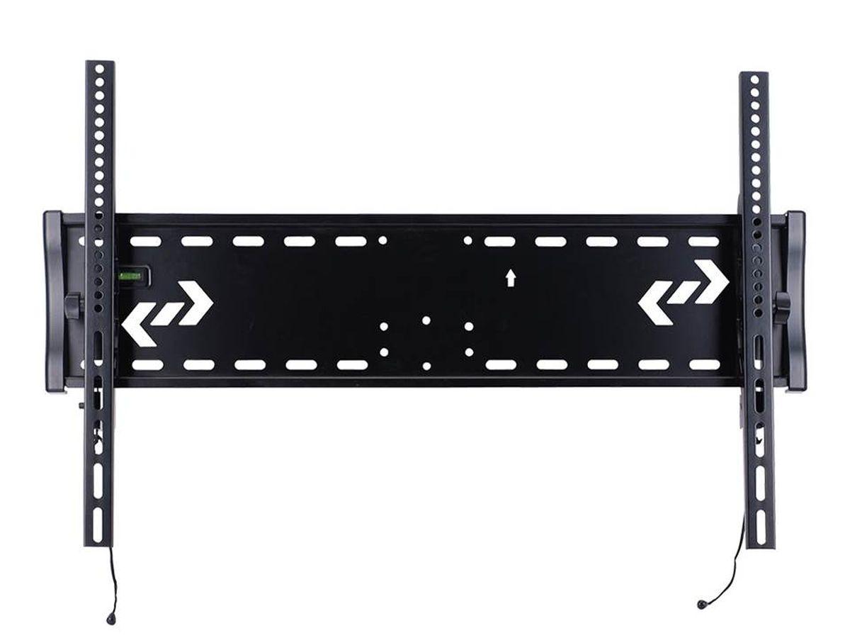Kromax Star-2, Grey кронштейн для ТВSTAR-2Наклонный кронштейн Kromax Star-2 для ЖК (LCD) телевизоров и плазменных панелей с расстоянием от стены - 76 мм. С помощью технологии TechLock, Вы легко сможете снять ТВ с кронштейна вместе с направляющими. Максимальные посадочные отверстия по горизонтали - 850 мм, по вертикали - 530 мм.