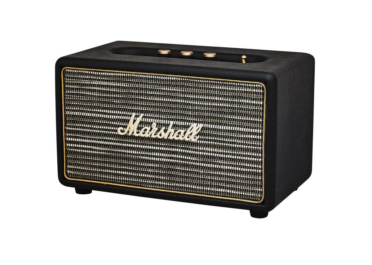 Marshall Acton, Black акустическая система15118900Marshall Acton – самая компактная акустическая система из линейки производителя, выполненная в стиле легендарных гитарных усилителей. Колонка совместима с большинством аудиоустройств, а малые размеры позволяют слушать музыку в любом месте. Для подключения источника можно воспользоваться стандартным 3,5-мм разъемом или установить Bluetooth-соединение. Акустика Marshall Acton оформлена в классическом ретро-стиле, с прочным виниловым покрытием и золотой окантовкой. Все основные органы управления вынесены на верхнюю панель, что делает колонку удобной в эксплуатации, а 4 низкочастотный динамик и два 3/4 твиттера обеспечивают мощный детализированный звук. Marshall Acton – прекрасный выбор для всех любителей качественного звука в сочетании со стильным дизайном. Частота кроссовера: 4200 Гц