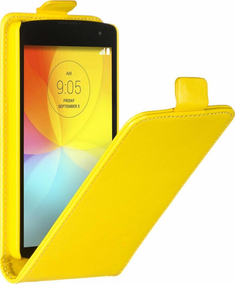 Skinbox Flip Case чехол для LG Fino, Yellow2000000062525Чехол Skinbox Flip Case для LG Fino выполнен из высококачественного поликарбоната и экокожи. Он обеспечивает надежную защиту корпуса и экрана смартфона и надолго сохраняет его привлекательный внешний вид. Чехол также обеспечивает свободный доступ ко всем разъемам и клавишам устройства.
