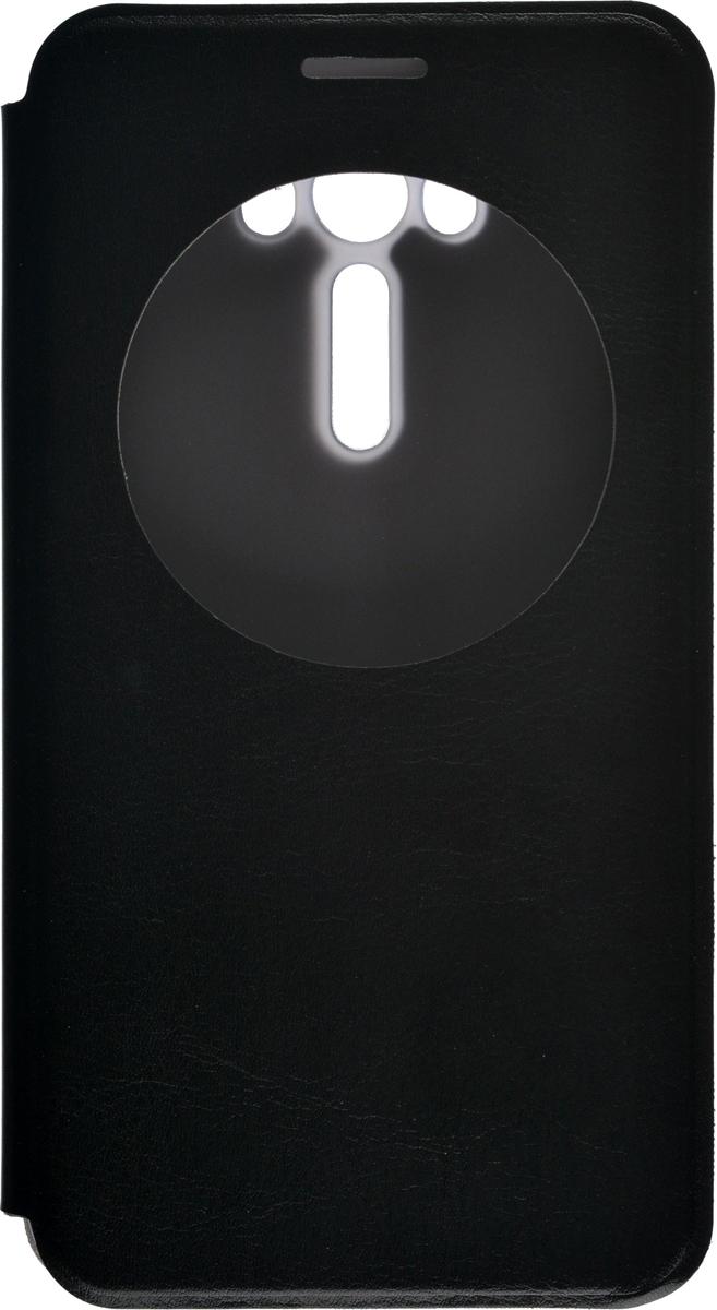 Skinbox Lux AW чехол для Asus Zenfone Laser 2 ZE550KL, Black2000000080246Чехол Skinbox Lux AW выполнен из высококачественного поликарбоната и экокожи. Он обеспечивает надежную защиту корпуса и экрана смартфона и надолго сохраняет его привлекательный внешний вид. Чехол также обеспечивает свободный доступ ко всем разъемам и клавишам устройства.