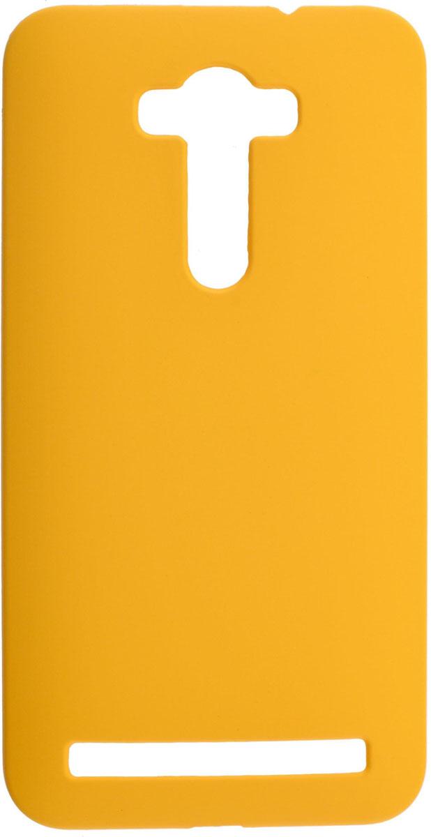 Skinbox 4People чехол для Asus Zenfone Laser 2 ZE550KL, Yellow2000000083599Чехол-накладка Skinbox 4People для Asus Zenfone Laser 2 ZE550KL бережно и надежно защитит ваш смартфон от пыли, грязи, царапин и других повреждений. Обеспечивает свободный доступ ко всем разъемам и элементам управления.