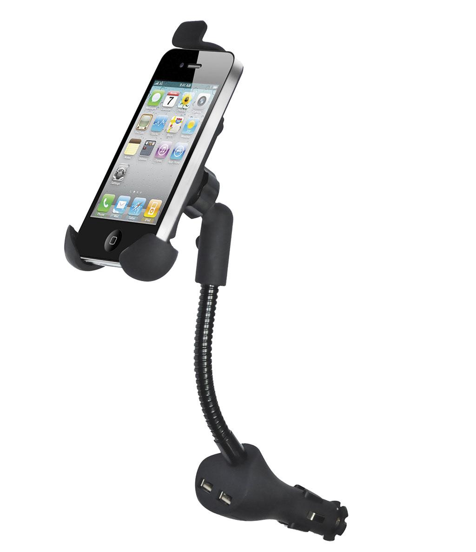 Держатель для телефона автомобильный Zipower. PM 6610PM 6610Автомобильный держатель Zipower, выполненный из высококачественного пластика, подходит для любого автомобиля. С помощью конструкции гибкий стержень водитель может зафиксировать телефон или смартфон в любом удобном для себя положении, а зарядное устройство USB дает уверенность, что телефон не разрядится даже во время долгой поездки. Предназначен для установки в прикуриватель. Особенности держателя: Выполнен из высококачественного материала PC + ABS. Длинная, гибкая штанга. Совместим со смартфонами: Samsung, Nokia, HTC И с большинством других. Легко устанавливается, легко снимается. Поворот на 360°. Зарядное устройство USB с двумя выходами. Регулируемая ширина захвата: 45–75 мм Регулируемая высота захвата: 110–140 мм.