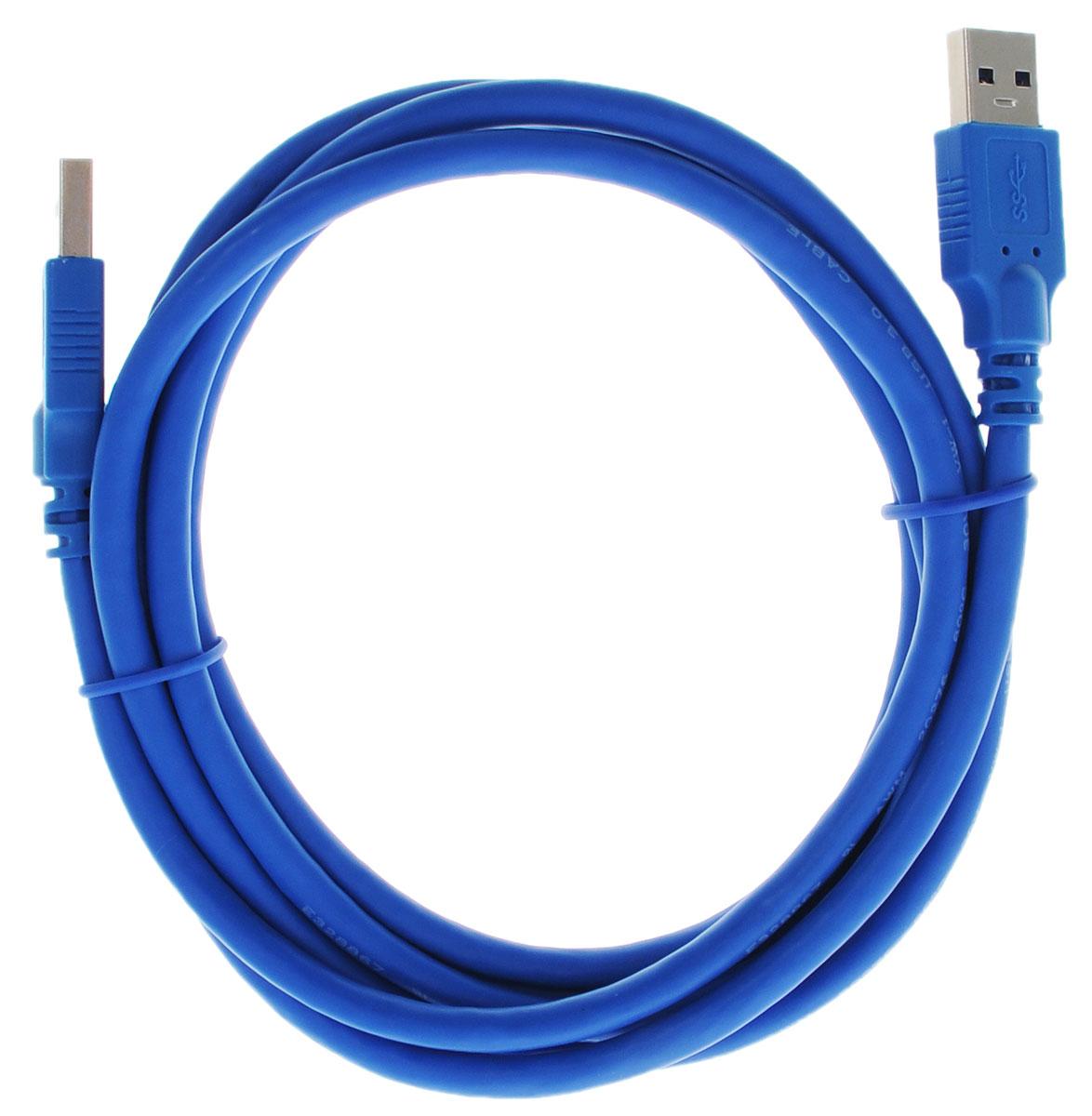 Greenconnect Premium GC-U3A01, Blue кабель USB 2 мGC-U3A01-2mКабель Greenconnect Premium GC-U3A01 используется для соединения ПК или ноутбука с периферийными устройствами: HD-DVD, принтер, внешний жесткий диск, Blu-ray и другими. Кабель имеет двойное экранирование (сочетание фольгированной и общей оплетки), что позволяет защитить сигнал при передаче от влияния внешних полей, способных создать помехи. Скорость передачи данных: до 5 Гбит Тип оболочки: PVC (ПВХ) Совместимость: USB 3.0/2.0/1.1
