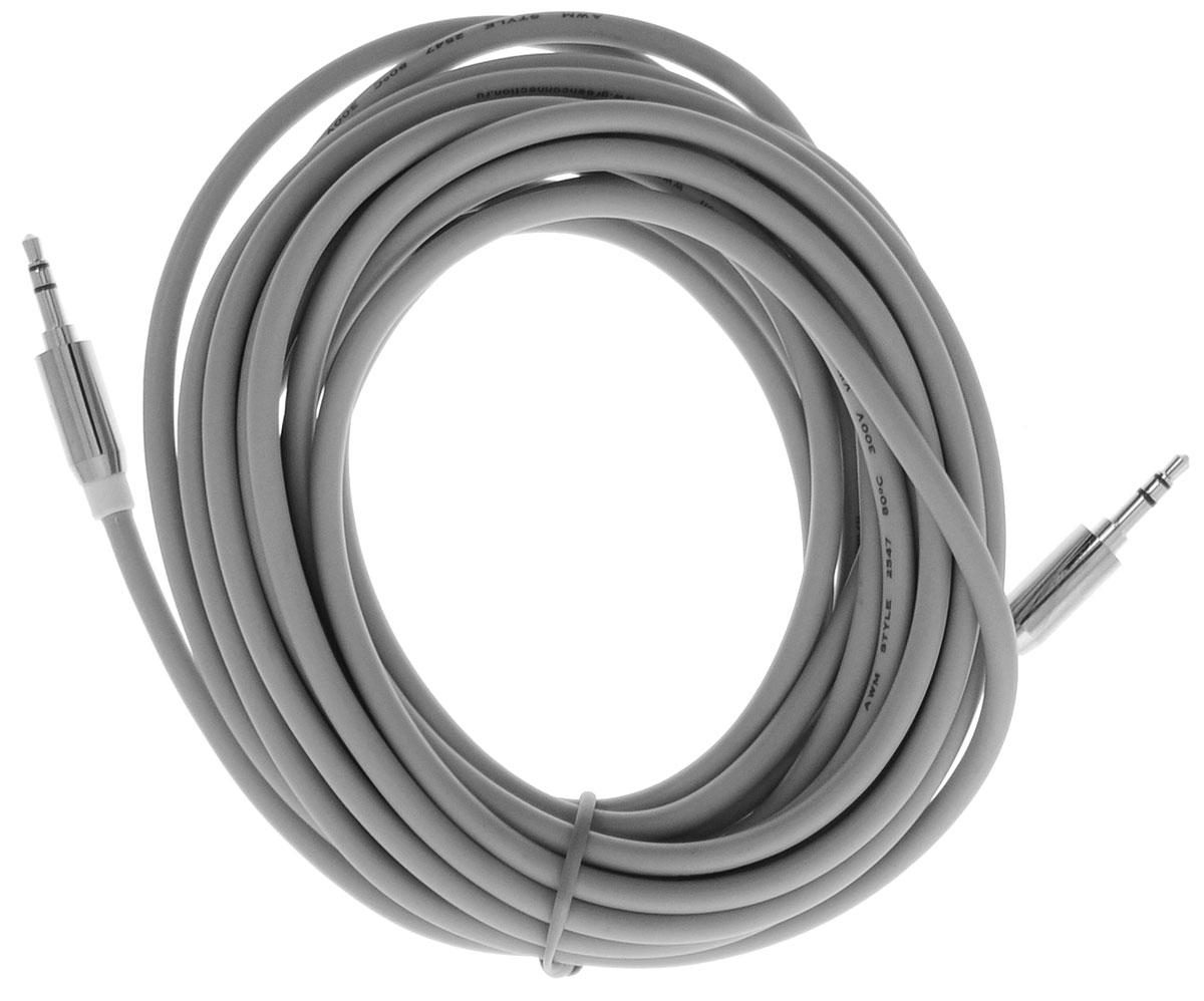Greenconnect GC-AVC09, White Silver кабель AUX 5 мGC-AVC09-5mGreenconnect GC-AVC09 - аудио-кабель, который поможет вам ни на секунду не расставаться с музыкой. Он соединит ваш телефон или плеер с аудиосистемой автомобиля, с аудио разъёмом компьютера или ноутбука, с портативной колонкой. Главное отличие аудиокабеля - мягкая оболочка и стильные металлические соединители. Прекрасное качество исполнения и экранирование позволит избежать влияния помех при передаче сигнала.