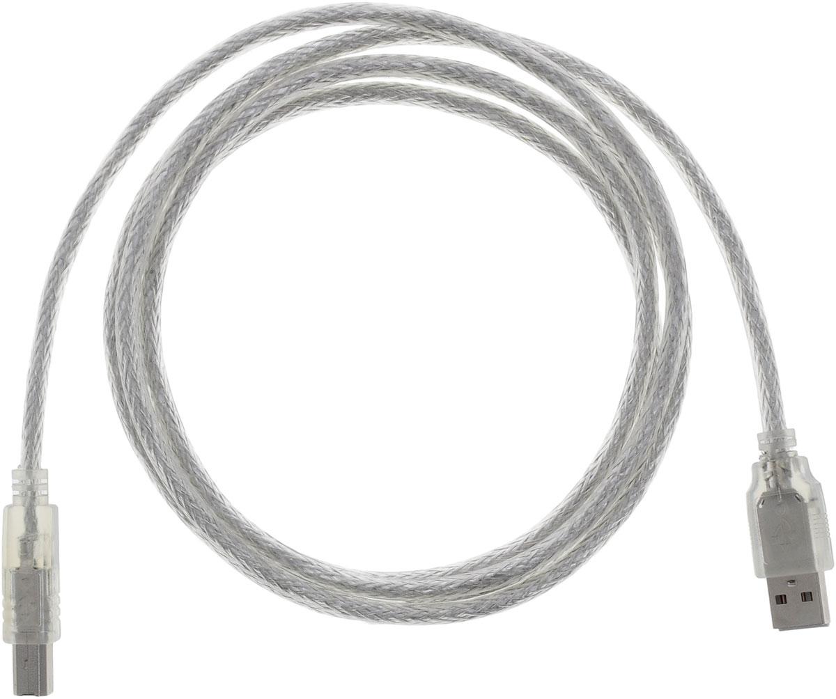 Greenconnect Premium GCR-UPC2M-BD2S, Clear кабель USB 1.8 мGCR-UPC2M-BD2S-1.8mКабель Greenconnect Premium GCR-UPC2M-BD2S используется для подключения к компьютеру различных устройств с разъемом USB тип B, например, принтер, камеры, сканер, МФУ. Надежно работает со всеми моделями HP. Экранирование кабеля позволит защитить сигнал при передаче от влияния внешних полей, способных создать помехи. Пропускная способность интерфейса: USB 2.0 до 480 Мбит/с Тип оболочки: PVC (ПВХ)
