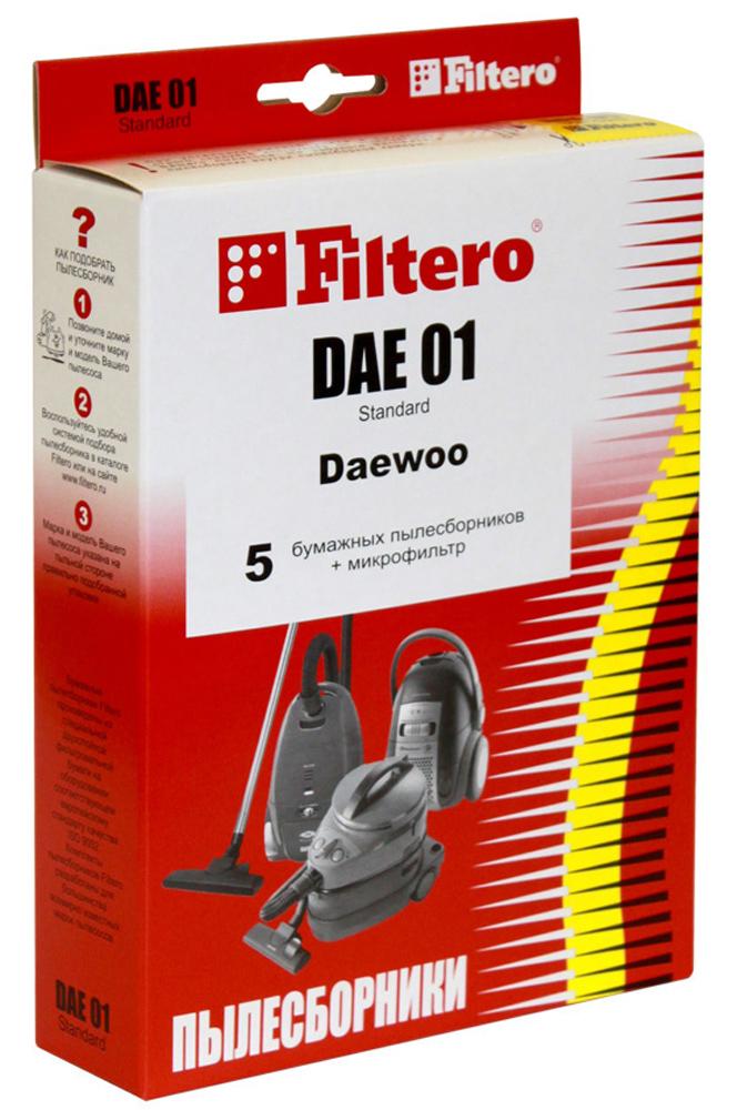 Filtero DAE 01 Standard мешок-пылесборник, 5 штDAE 01 StandardБумажные пылесборники Filtero DAE 01 Standard - оптимальный вариант по удобству, эффективности, соотношению цена и качество для использования в пылесосе. В отличие от используемых иногда матерчатых пылесборников, бумажные пылесборники обеспечивают гораздо более высокую степень очистки. Бумажные пылесборники Filtero способны задерживать микрочастицы размером всего в 1 микрон, в то время как в матерчатых мешках остается только пыль размером в 40-100 микрон. Это значит, что эффективность использования бумажного пылесборника Filtero более чем в 40 раз выше! Высокое качество фильтрации обеспечивает удерживание в пылесборнике шерсти домашних животных, пылевых клещей, плесени. Это позволяет значительно снизить аллергические реакции на пыль. Бумажные пылесборники Filtero гигиеничны и удобны в использовании. Их не надо вытряхивать - достаточно извлечь пылесборник из пылесоса и просто выбросить. Бумажные пылесборники Filtero (Фильтеро) соответствуют ...
