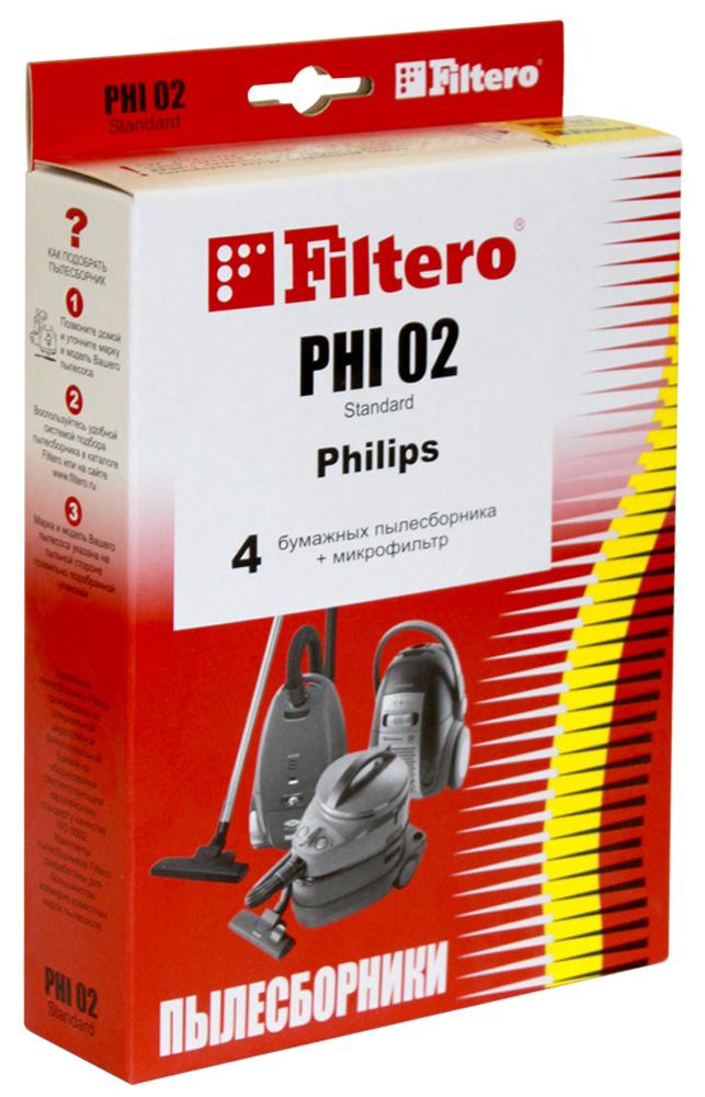 Filtero PHI 02 Standard мешок-пылесборник, 4 штPHI 02 StandardFiltero PHI 02 Standard произведены из специальной фильтровальной бумаги, 2-х слойные. Бумажные мешки- пылесборники Filtero обеспечивают более высокую степень очистки, чем многоразовые тканевые мешки. Пылесборники Filtero PHI 02 подходят для следующих моделей пылесосов: PHILIPS Duathlon Marathon Triathlon 1300, 1400, 2000 HR 6814 - HR 6845 HR 6888 FC 6841 FC 6842 FC 6843 FC 6844
