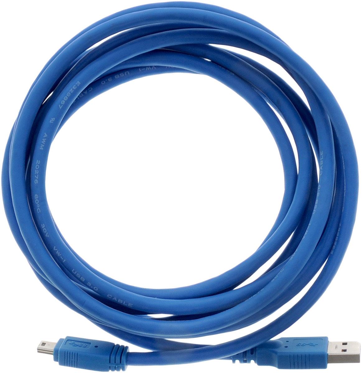 Greenconnect Premium GC-U3A2109, Blue кабель miniUSB 3.0-USB 3.0 (3 м)GC-U3A2109-3mКабель Greenconnect Premium GC-U3A2109 позволяет подключать мобильные устройства, которые имеют разъем miniUSB к USB разъему компьютера. Подходит для повседневных задач, таких как синхронизация данных и передача файлов. Кабель имеет двойное экранирование (сочетание фольгированной и общей оплетки), что позволяет защитить сигнал при передаче от влияния внешних полей, способных создать помехи. Скорость передачи данных: до 5 Гбит Обратная совместимость с USB 2.0/1.1 Тип оболочки: PVC (ПВХ)