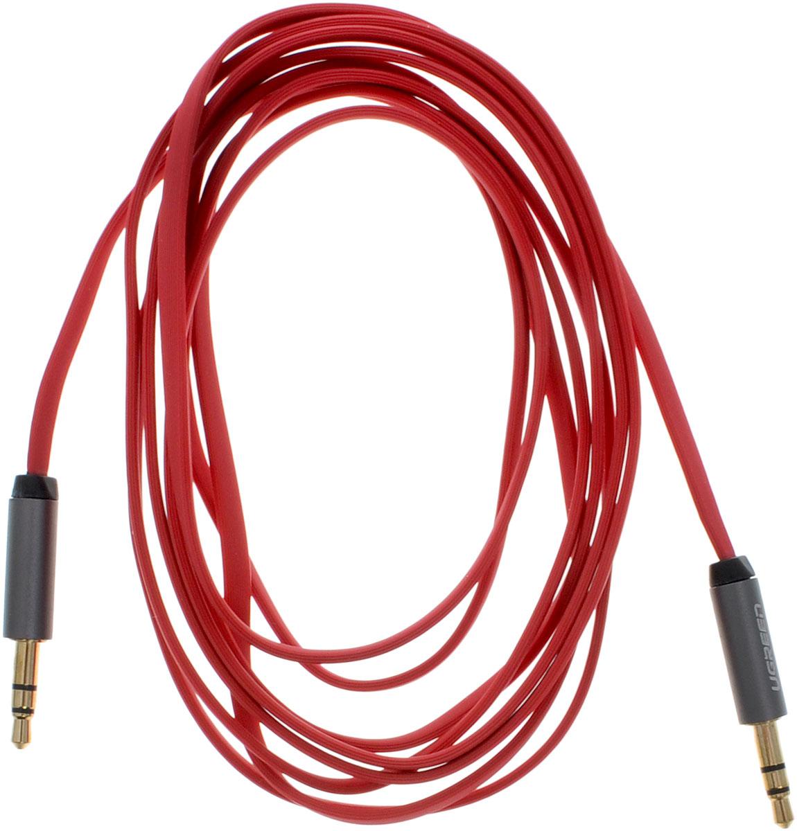 Ugreen UG-10794, Red Silver кабель AUX 2 мUG-10794Кабель Ugreen UG-10794 может быть использован для подключения, например, гарнитуры с MP3-плеером, компьютера, DVD, TV, радио, CD плеер в которых есть данный аудиоразъем. Главное отличие этого аудио кабеля - мягкая оболочка и стильные металлические соединители. Прекрасное качество исполнения и экранирование позволит избежать влияния помех при передаче сигнала. Толщина кабеля: 1,5 х 3,5 мм Тип оболочки: ПВХ