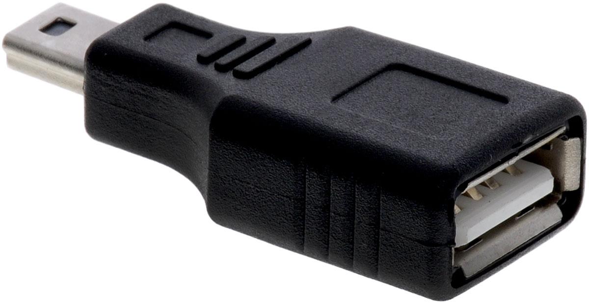 Greenconnect GC-UAF2M5, Black адаптер-переходник miniUSB-USBGC-UAF2M5С помощью адаптера Greenconnect GC-UAF2M5 вы сможете подключить любые устройства имеющие разъем USB к порту miniUSB вашего девайса.