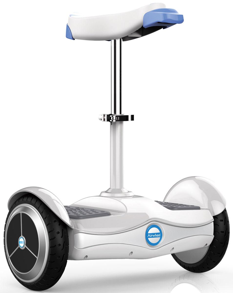 Airwheel S6, White двухколесный гироцикл с сиденьем (батарея LG 260 Вт/ч)AIRWHEEL S6-260WHДвухколесный гироскутер с сидением и колесами диаметром 8 дюймов. Высокоэффективная батарея Дистанционное управление Приложение для смартфона Регулируемая высота сидения Bluetooth 260WH Материал корпуса: Металл; Пластик