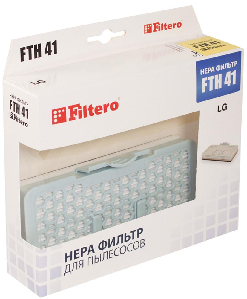 Filtero FTH 41 LGE фильтр для пылесосов LGFTH 41Фильтр Filtero FTH 41 уровня фильтрации НЕРА Н 12. Препятствует выходу мельчайших частиц пыли и аллергенов из пылесоса в помещение. Фильтр не моющийся. Подлежит замене, согласно рекомендации производителя пылесосов - не реже одного раза за 6 месяцев. Подходит для следующих пылесосов LG: V-C 731 …. например: V-C 73182 Kompressor Lite V-C 732 …. V-C 831 …. V-C 832 …. V-C 888 …. например: V-C 88888 Kompressor Follow me V-K 801 …. V-K 802 …. V-K 811 …. например: V-K 81101 Kompressor Elite Smart V-K 88 …. например: V-K 8828 HQ Kompressor Plus V-K 891 …. V-K 892 …. V-K 893 …. V-K 894 ….
