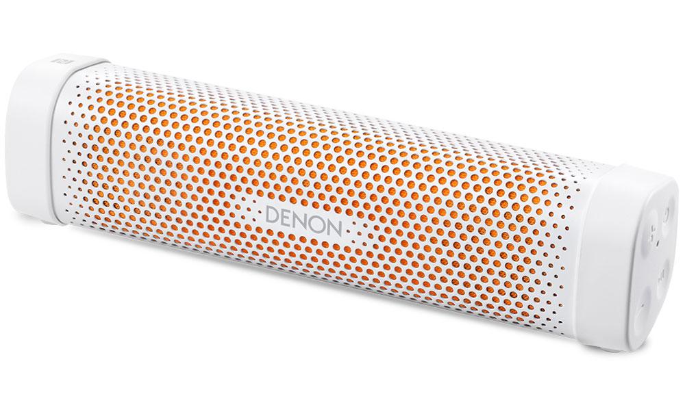 Denon Envaya Mini DSB-100, White портативная акустическая система4951035054956Denon Envaya Mini DSB-100 - надежный спутник путешественника с аккумулятором емкостью 10 часов и активной системой шумоподавления. Корпус может быть установлен вертикально или горизонтально, а отделка представлена новыми комбинациями (черный корпус, голубая вставка и белый корпус, оранжевая вставка) цветов. Прочные и качественные материалы, применяемые при производстве корпуса, гарантировано пройдут проверку временем. Качество звучания - первостепенная цель при создании любого устройства Denon, а более чем 100 летняя история производства Hi-Fi компонентов гарантирует потребителям при покупке устройств Denon уверенность в неизменности принятых стандартов и, в свою очередь, Envaya Mini им полностью соответствует. Использование собственной технологии MaxxAudio и двойных широкополосных динамиков обеспечивает этому миниатюрному устройству, отличные звуковые возможности. Цифровой аудио процессор создает потрясающую звуковую сцену, объемные образы и...