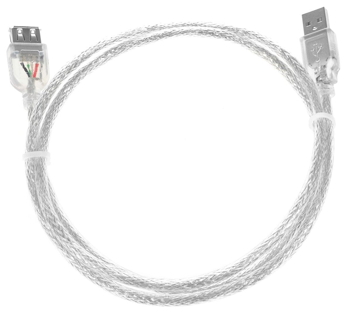 Greenconnect Premium GCR-UEC2M-BD2S, Clear кабель-удлинитель USB 1 мGCR-UEC2M-BD2S-1.0mКабель-удлинитель Greenconnect Premium GCR-UEC2M-BD2S служит для увеличения расстояния между подключаемыми устройствами. Идеально подходит, если необходимо удобно расположить устройства на столе или USB порт расположен слишком далеко для подключения. Кабель имеет экранирование, что позволяет защитить сигнал при передаче от влияния внешних полей, способных создать помехи.