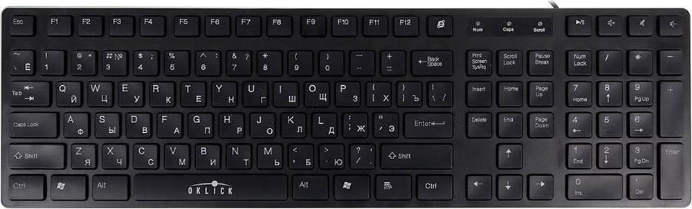 Oklick 570M, Black клавиатура654575Oklick 570M – тонкая и компактная клавиатура с низкопрофильными клавишами.Традиционная раскладка и современные низкопрофильные клавиши Oklick 570 М – идеальный вариант для работы и развлечений.Среди 110 кнопок клавиатуры Oklick 570М есть квартет для управления мультимедийным проигрывателем.Классическая строгость и лаконичность форм Oklick 570М дополнит гармонию офисного интерьера или станет отличительной чертой вашего домашнего технопарка.