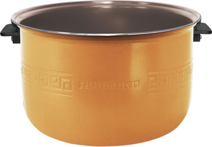 Redmond RB-C515 F чаша для мультиваркиRB-C515 FЧаша с керамическим покрытием для мультиварок c функцией MasterFry REDMOND RB-C515F – новейший экологичный кухонный аксессуар, отличающийся специально разработанным износостойким и сверхнадёжным антипригарным материалом чаши – керамикой Ceralon (Швейцария), обладающим выдающимися теплопроводными характеристиками. Чаша C515F выделяется ещё одним заметным преимуществом в виде лёгких жаропрочных ручек, абсолютно исключающих любую возможность обжечься. Ручки из высокотехнологичного и безопасного пластика гарантируют комфортное и быстрое извлечение ёмкости из мультиварки. К очевидным плюсам относятся большой объём (5 л) и внутренняя мерная шкала. Чаша применима для трёх моделей мультиварок с функцией подъёмного нагревательного элемента (ТЭНа): FM91, FM230, CBF390S. C515F открывает возможности для безупречной жарки, варки и тушения всевозможных изысков почти без высококалорийного масла, тем самым обеспечивая полноту натурального вкуса и максимальную...
