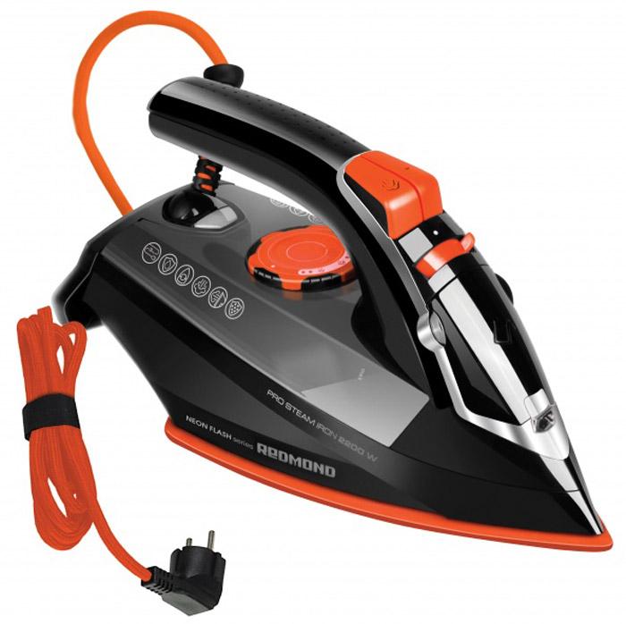 Redmond RI-C244, Orange утюгRI-C244_OrangeУтюг Redmond RI-C244 – новый эксклюзивный прибор из уникальной серии NEON FLASH, выполненный в эффектном дизайне и представленный в ярких ультрастильных цветовых решениях. Выберите свой неповторимый, мощный и высокотехнологичный утюг! Утюг Redmond RI-C244 предоставит самые широкие возможности для идеального глажения: надёжное керамическое покрытие подошвы, регулируемая подача пара, опция сухого глажения, защита от накипи и протекания, функция самоочистки. Redmond RI-C244 имеет и очень практичную функцию ECO, которая ощутимо снижает потребление электроэнергии. Вместе с этим суперсовременным утюгом в комплект входит мерный стакан. Вы насладитесь каждым движением этого современного утюга!