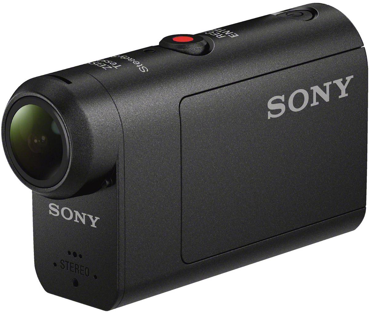 Sony HDR-AS50 экшн-камераHDR-AS50Будьте готовы к съемке в любой момент и в любой ситуации с Sony HDR-AS50. Выбирать и менять функции теперь просто, как никогда, благодаря новому интуитивному интерфейсу, где все пункты меню легко доступны. Оцените удобную настройку камеры и выбирайте нужные вам параметры. Камеру можно включать и выключать через смартфон с приложением PlayMemories Mobile. Создавайте безупречно четкие видеоролики благодаря системе стабилизации изображения SteadyShot, снимайте в темноте и полумраке благодаря высокой чувствительности матрицы, настраивайте ширину охвата кадра с функцией изменения поля зрения. Матрица Exmor R, процессор BIONZ X и объектив ZEISS — секрет безупречного качества изображения кроется в этих трех компонентах. Система стабилизации изображения SteadyShot устраняет мелкое дрожание видео, которое возникает при съемке с велосипеда и при других активных движениях. Теперь у вас есть возможность снимать захватывающие видео от первого лица,...