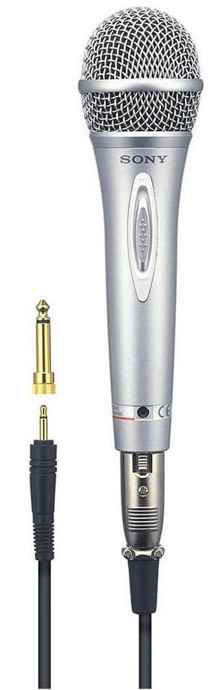 Sony F-V620 микрофонF-V620Вокальный микрофон Sony F-V620 с расширенным динамическим диапазоном. Эффект динамического звучания предназначен для подъема диапазона голоса, что подходит для любителей Karaoke. Благодаря большому громкоговорителю обеспечивается воспроизведение динамического звука. Неодимовый магнит позволяет добиться расширенного диапазона воспроизводимых частот для получения динамического звучания. С помощью разъема Cannon обеспечивается надежное соединение. При использовании кабеля OFC качество звука улучшается. Микрофон оснащен встроенным выключателем. Имеется универсальный разъем для кассетного записывающего устройства с радио и проигрывателя лазерных дисков. Монофонический Тип кабеля: OFC Длина кабеля: 5 м Штекер: мини-разъем типа Cannon