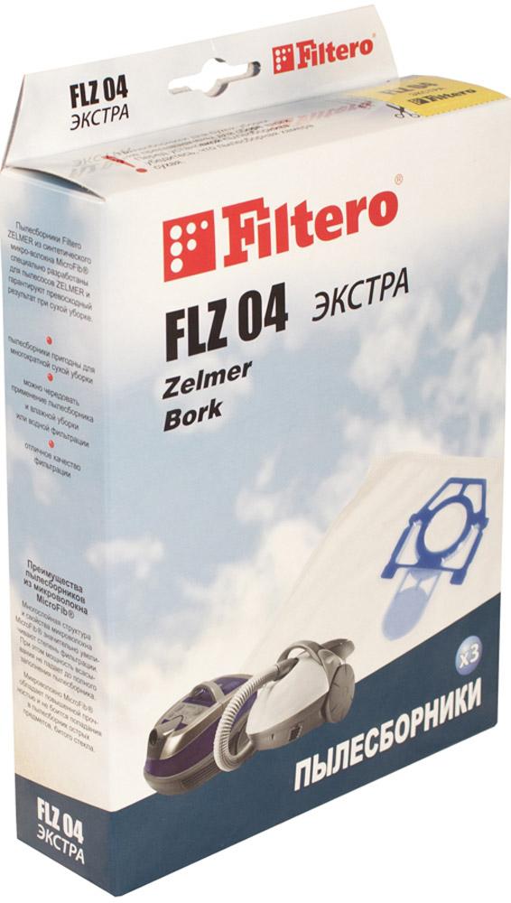 Filtero FLZ 04 Экстра мешок-пылесборник 3 штFLZ 04 ЭкстраМешки - пылесборники Filtero FLZ 04 Экстра произведены из пятислойного синтетического микроволокна MicroFib. Очень прочные, не боятся острых предметов и влаги, собирают до 50% больше пыли, чем бумажные. Обеспечивают уровень очистки воздуха НЕРА. Сохраняют мощность всасывания в течение всего периода службы пылесборника.