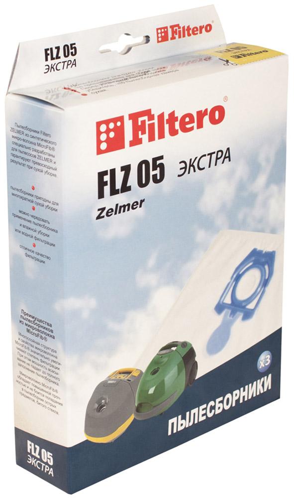 Filtero FLZ 05 Экстра мешок-пылесборник 3 штFLZ 05 ЭкстраМешки - пылесборники Filtero FLZ 05 Экстра произведены из пятислойного синтетического микроволокна MicroFib. Очень прочные, не боятся острых предметов и влаги, собирают до 50% больше пыли, чем бумажные. Обеспечивают уровень очистки воздуха НЕРА. Сохраняют мощность всасывания в течение всего периода службы пылесборника.