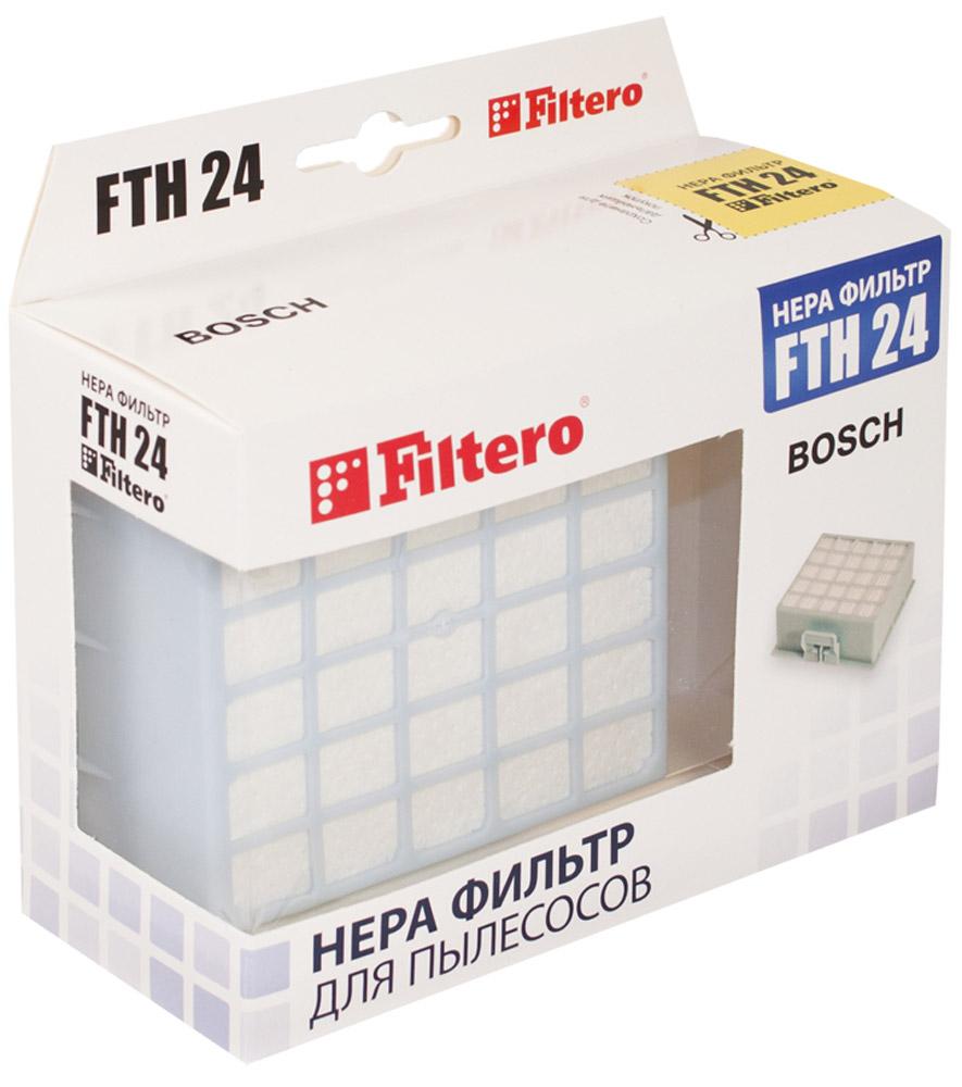 Filtero FTH 24 BSH фильтр для пылесосов Bosch & SiemensFTH 24Немоющийся фильтр Filtero FTH 24 уровня фильтрации НЕРА Н 12 препятствует выходу мельчайших частиц пыли и аллергенов из пылесоса в помещение. Он подлежит замене согласно рекомендации производителя пылесосов - не реже одного раза за 6 месяцев.